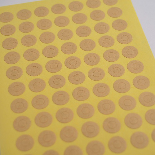 Kraft - Planche de 70 petits oeillets kraft
