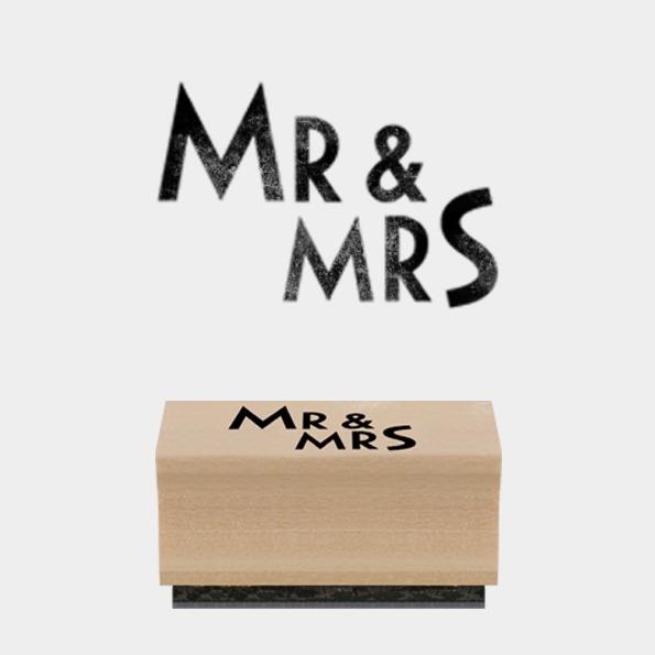 Mr & Mrs - Tampon mariage