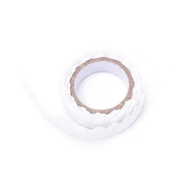 lace tape blanc