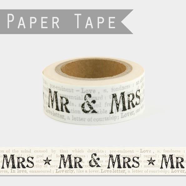 Mr & Mrs - Masking tape mariage