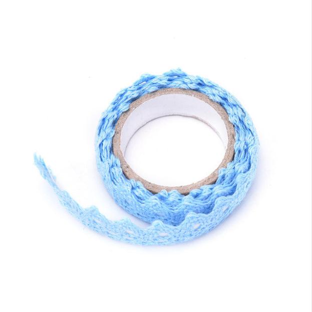 lace tape bleu