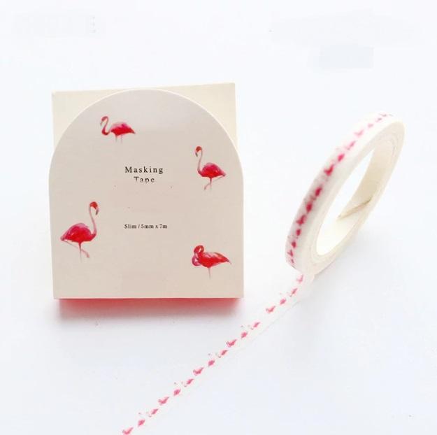 Flamant rose - Slim tape tropicale