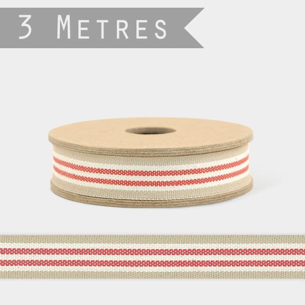 Stripe - 3m de ruban coton