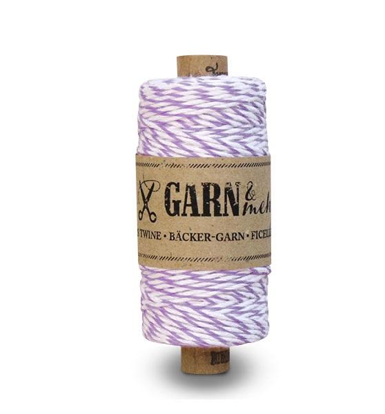 Purple - Rouleau de baker twine violet et blanc