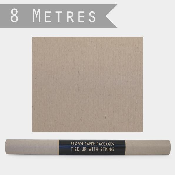 Rouleau - 8m de papier cadeau kraft marron