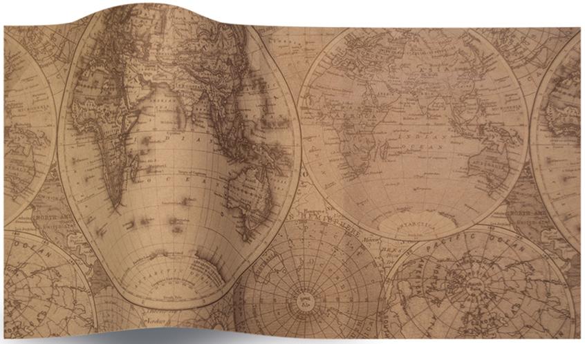 Mappemonde - 5 feuilles de papier de soie carte du monde