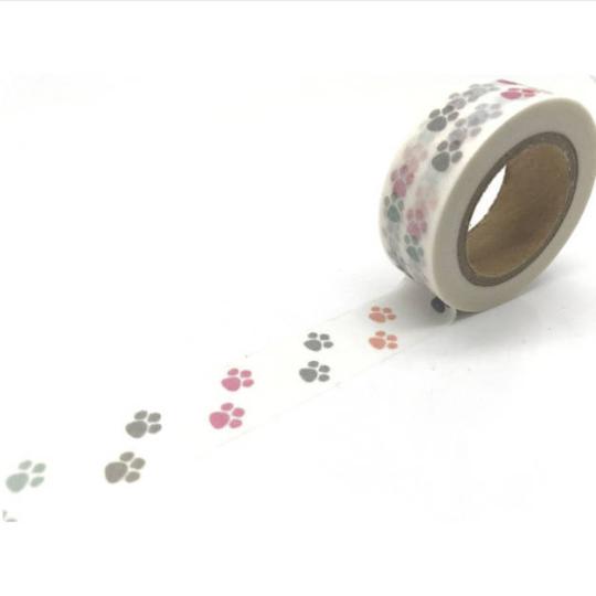 masking tape pattes de chien