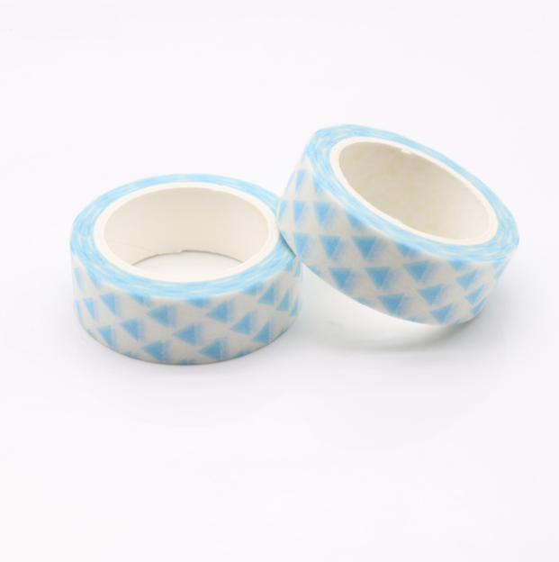 washi tape triangle bleu