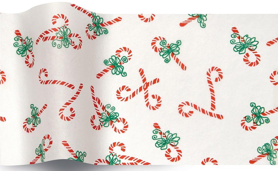 Sucre d\'orge - 5 feuilles de papier de soie Noël