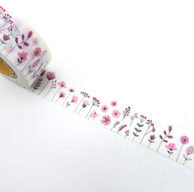 Printemps - Masking tape avec des fleurs