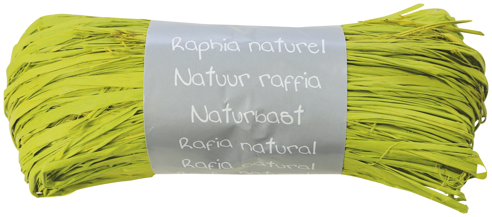 Pelote - Raphia naturel vert pomme
