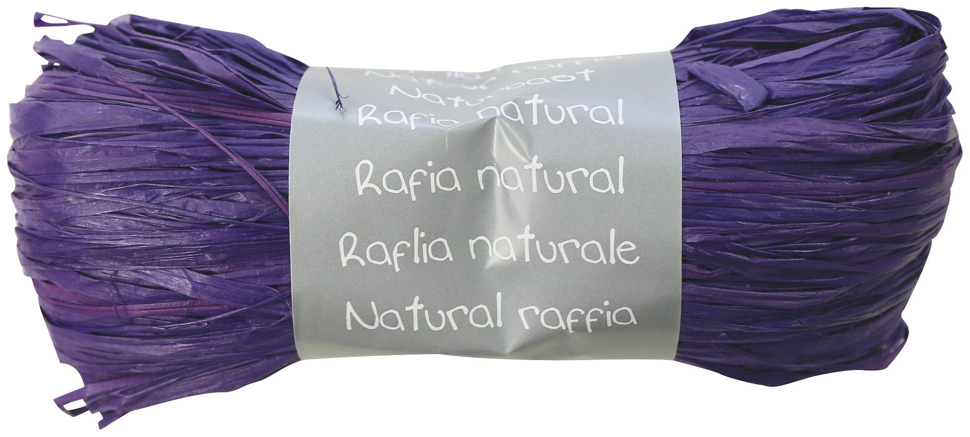 raphia naturel violet