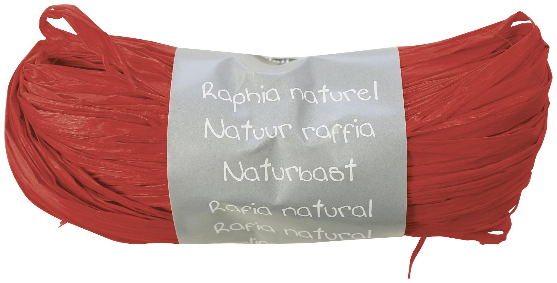 raphia rouge naturel