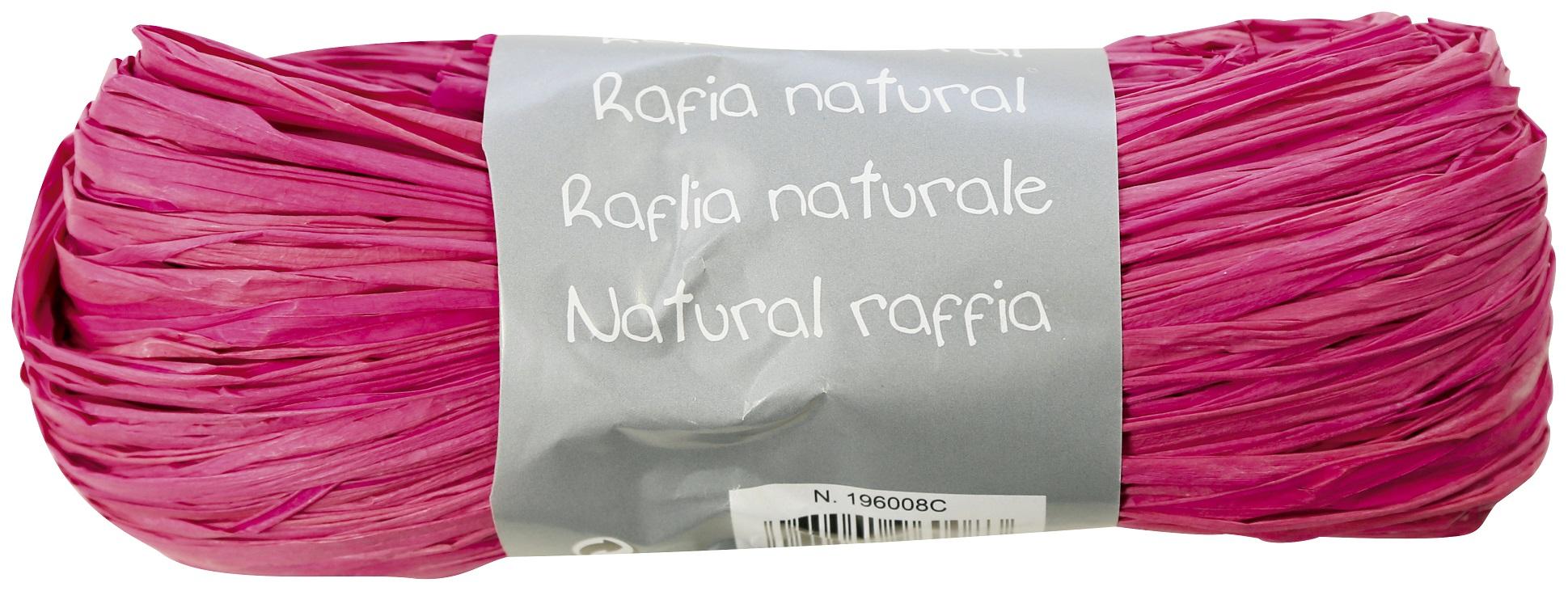 raphia rose naturel