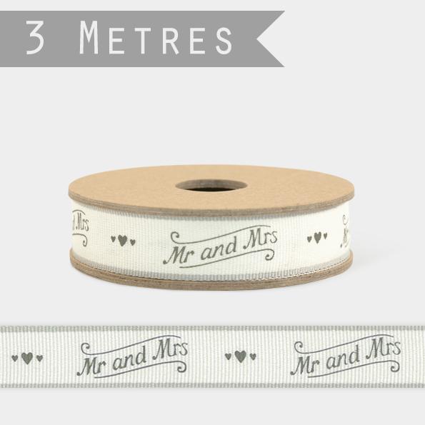Mr&Mrs - 3m de ruban mariage
