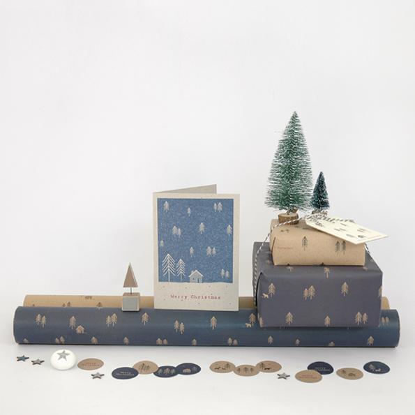 rouleau 3m de joli papier cadeau kraft papiers cadeaux. Black Bedroom Furniture Sets. Home Design Ideas