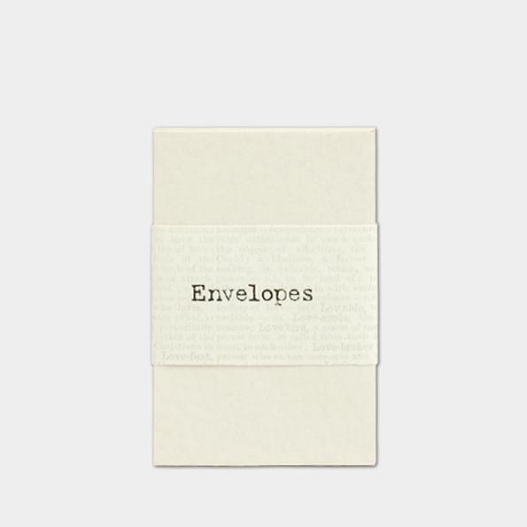 Crème - 20 petites enveloppes papier