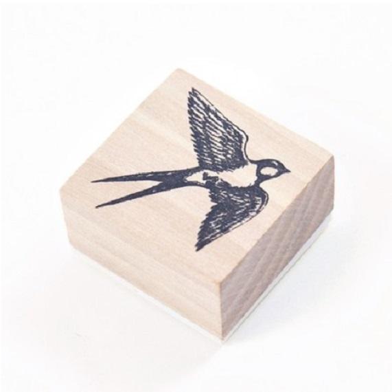 Hirondelle - Tampon bois