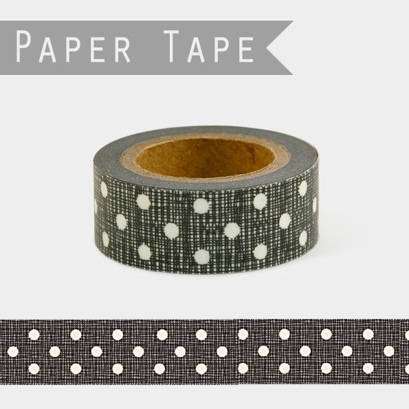 DIY - Masking tape noire à pois