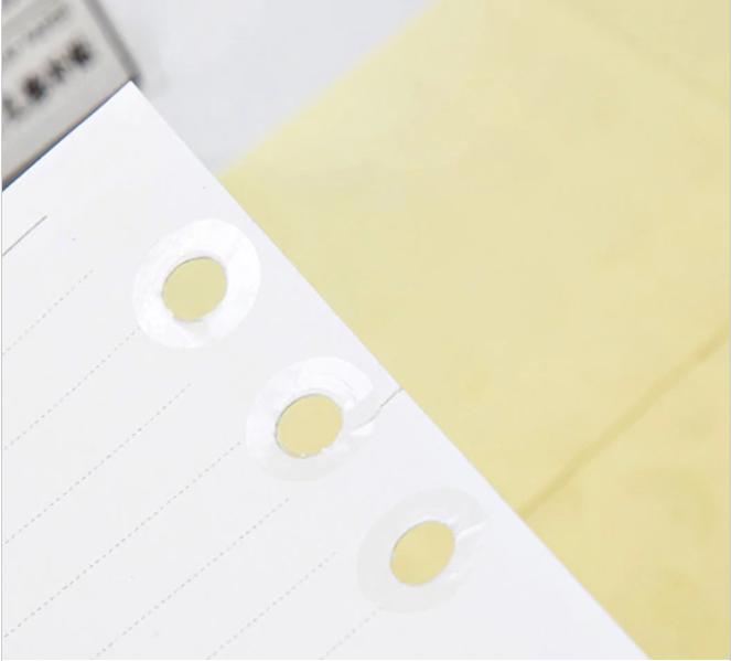 School - Planche de 28 oeillets transparents