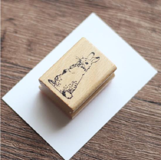 Wood - Joli tampon lapin