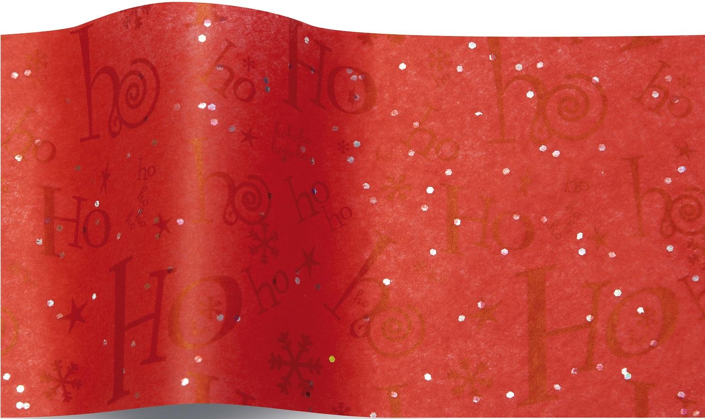 Ho Ho Ho - 5 feuilles de papier de soie Noël