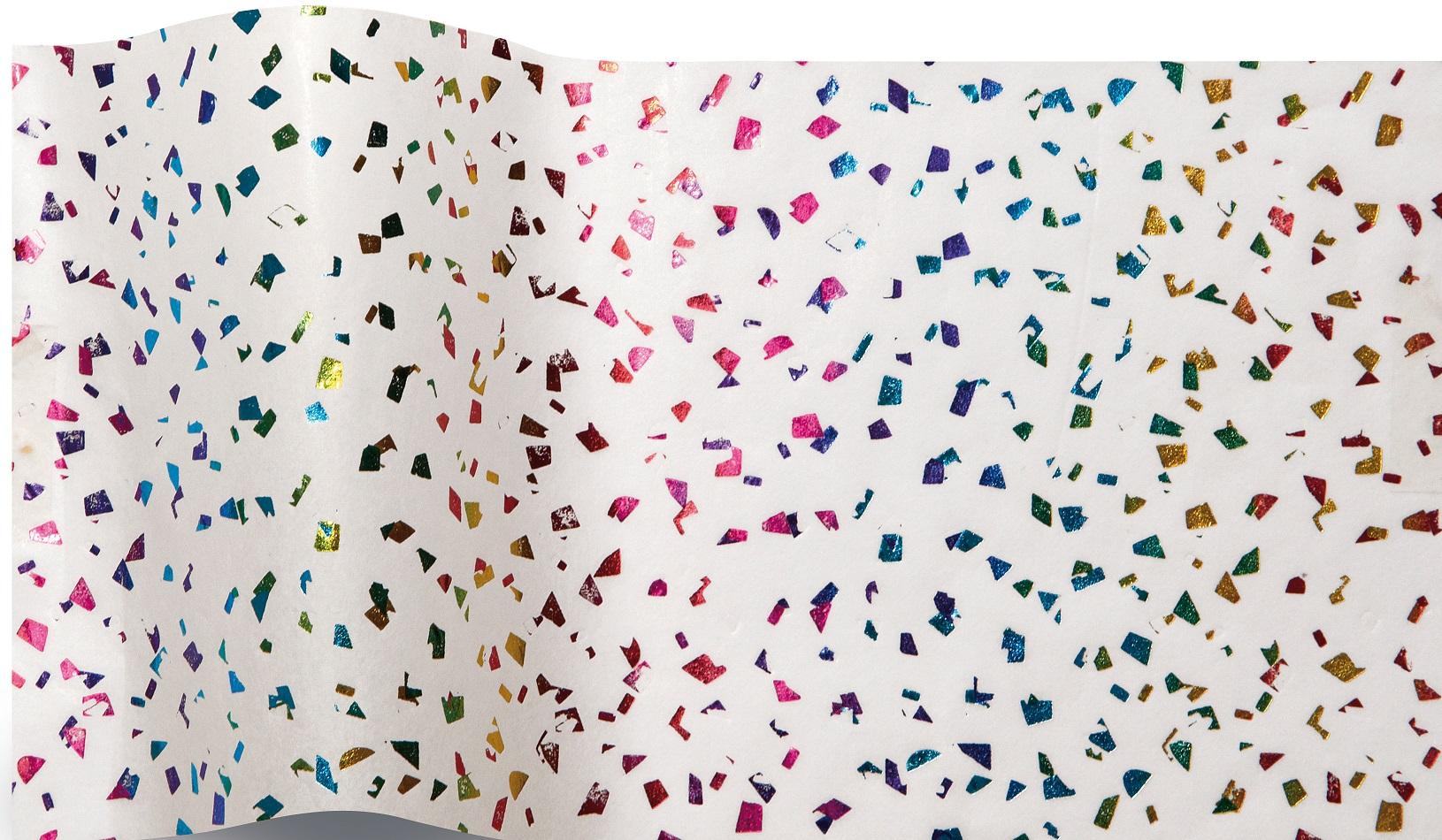 Arc-en-ciel - 5 feuilles de papier de soie avec incrustations