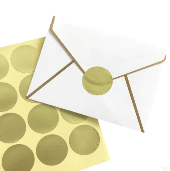 160 stickers ronds dorés Ø2,5cm