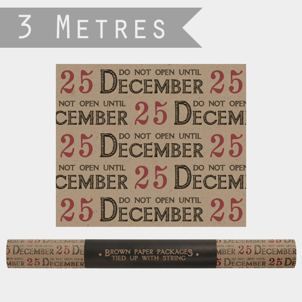 Rouleau - 3m de papier cadeau Noël