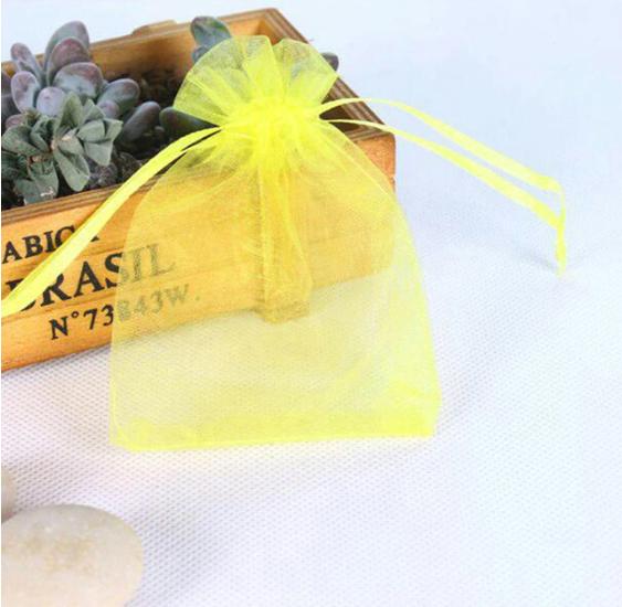 Organza - 25 pochettes jaune citron