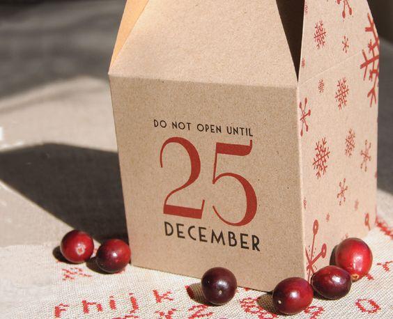 Noël - Boite cadeau kraft