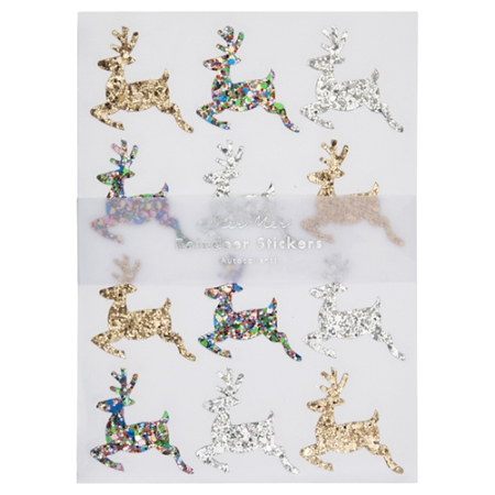 Noël - 90 stickers rennes glitter