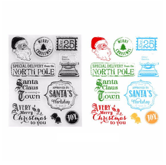 Noël - Clear stamps en silicone
