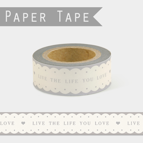 Rétro - Masking tape LIVE THE LIFE YOU LOVE
