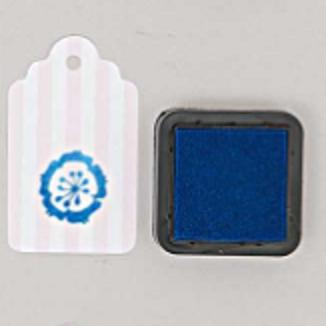encre tampon bleue