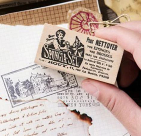 Rétro - Tampon publicité vintage