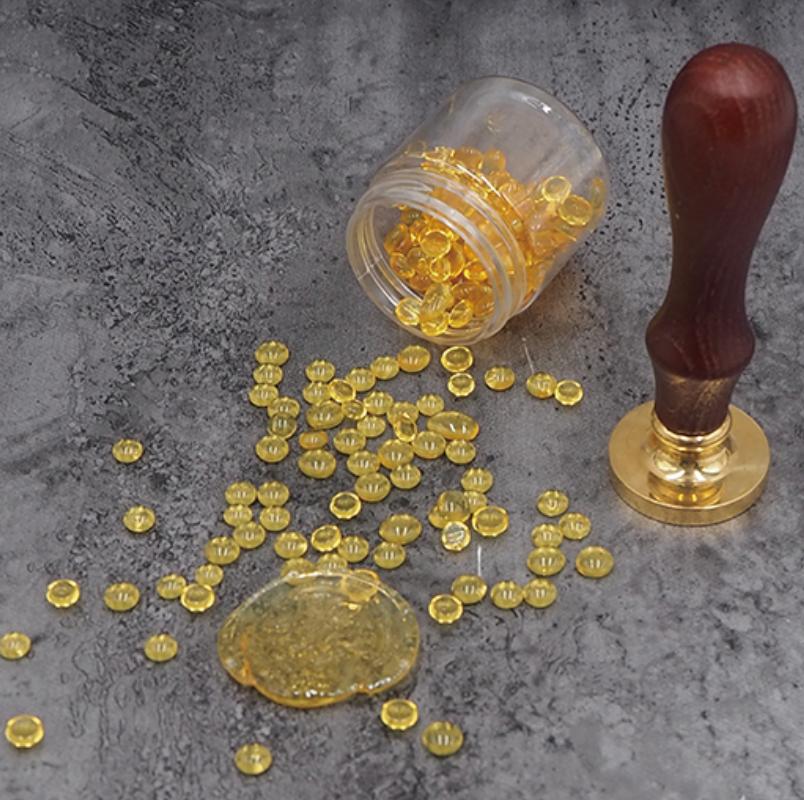 cire transparente ambre