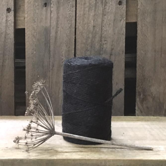 Rouleau - 100m de ficelle très épaisse en jute noire