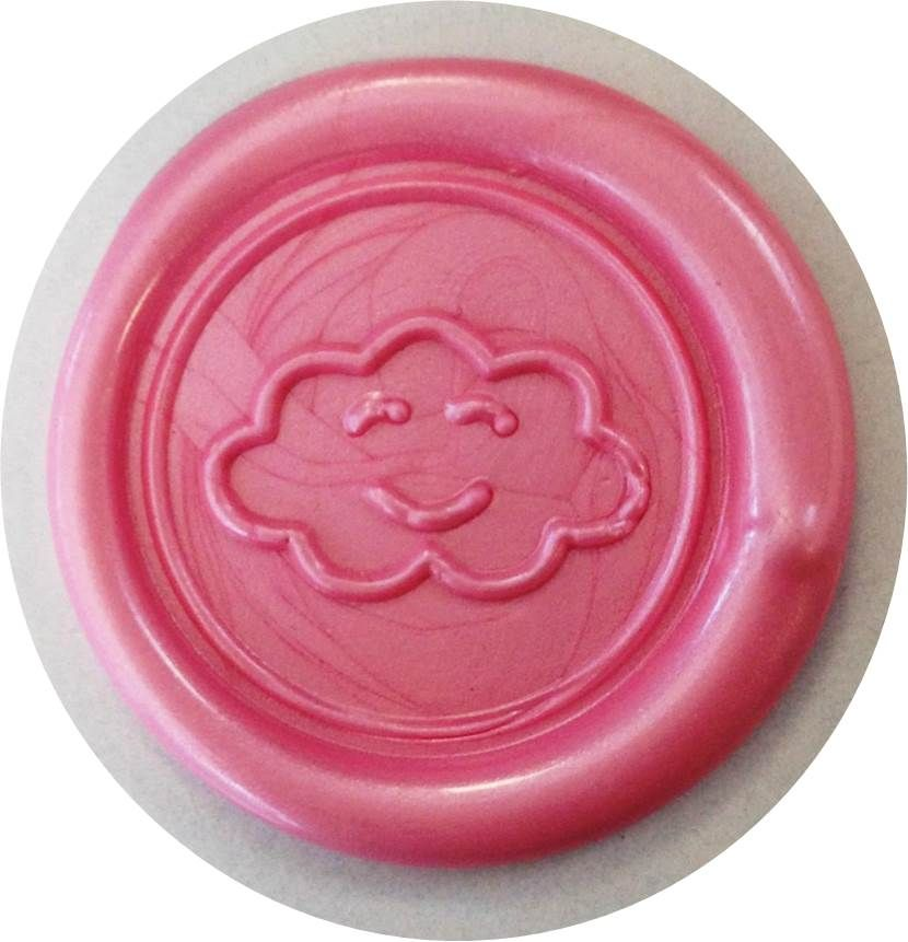 sceau de cire avec un nuage