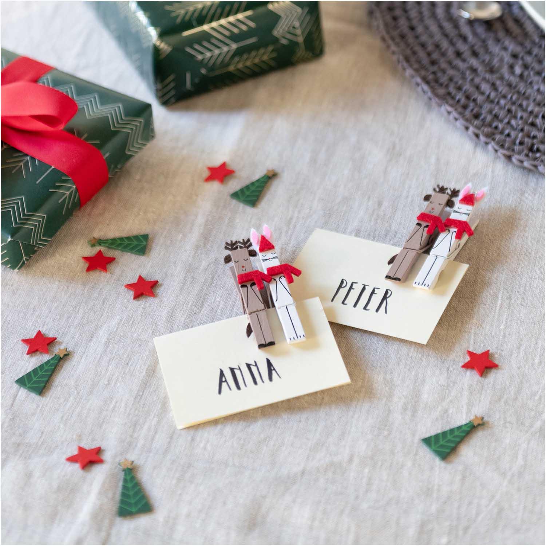 Noël - 4 pinces décoratives