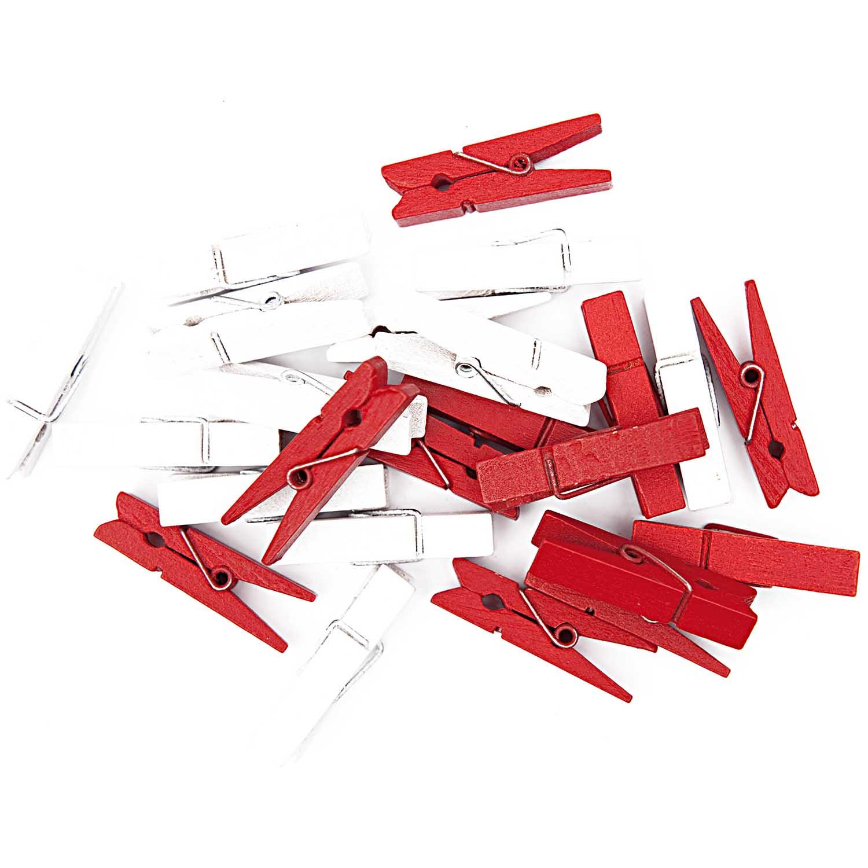 Avent - 24 pinces rouges et blanches
