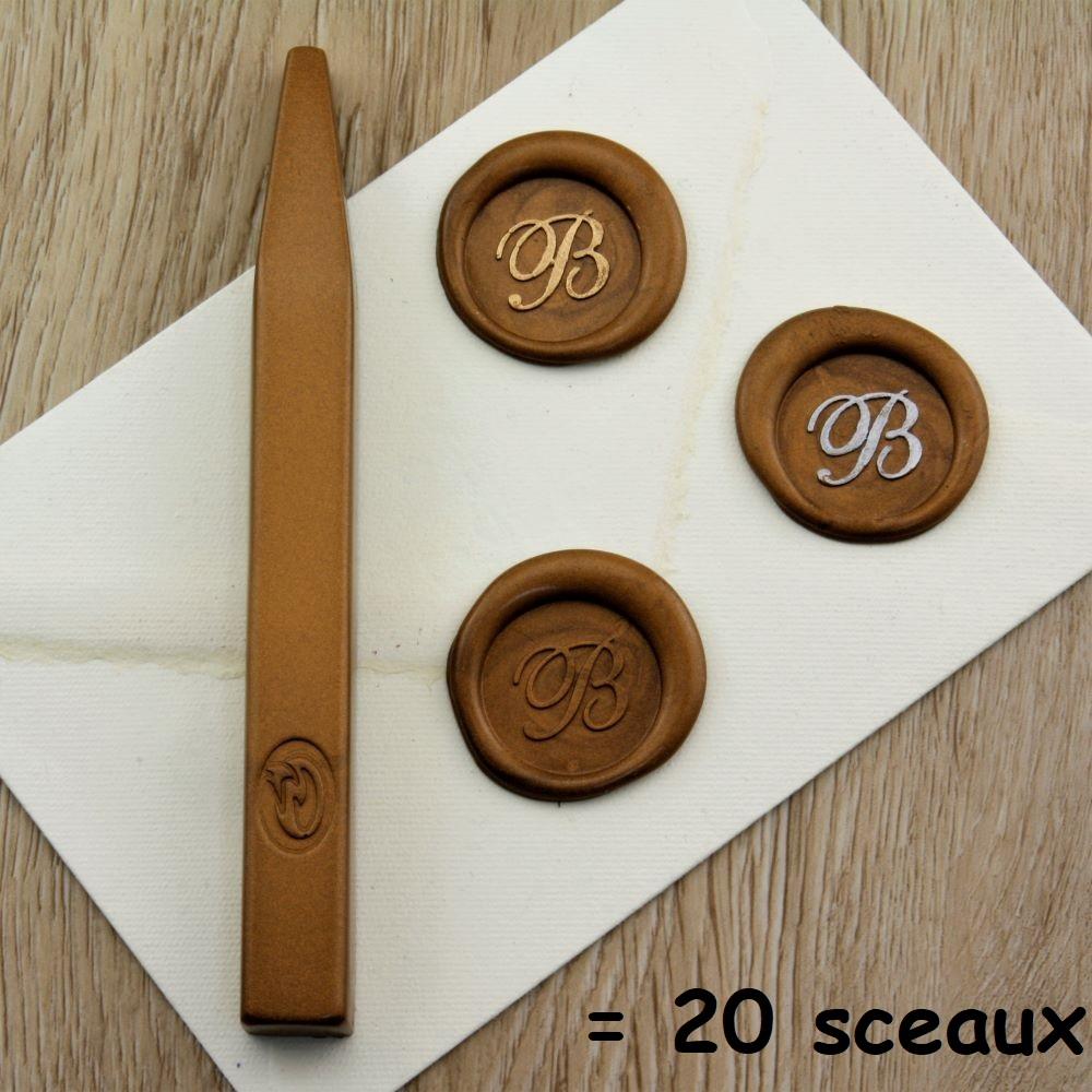 Luxe - Bâton de cire bronze de grande qualité