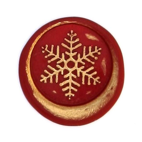 sceau de cire avec un flocon