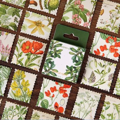 Jardin - 46 petits stickers avec des fleurs