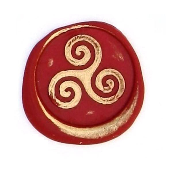 sceau de cire triskel