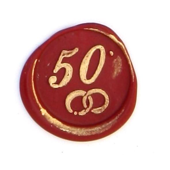 CACHET DE CIRE 50 ANS DE MARIAGE