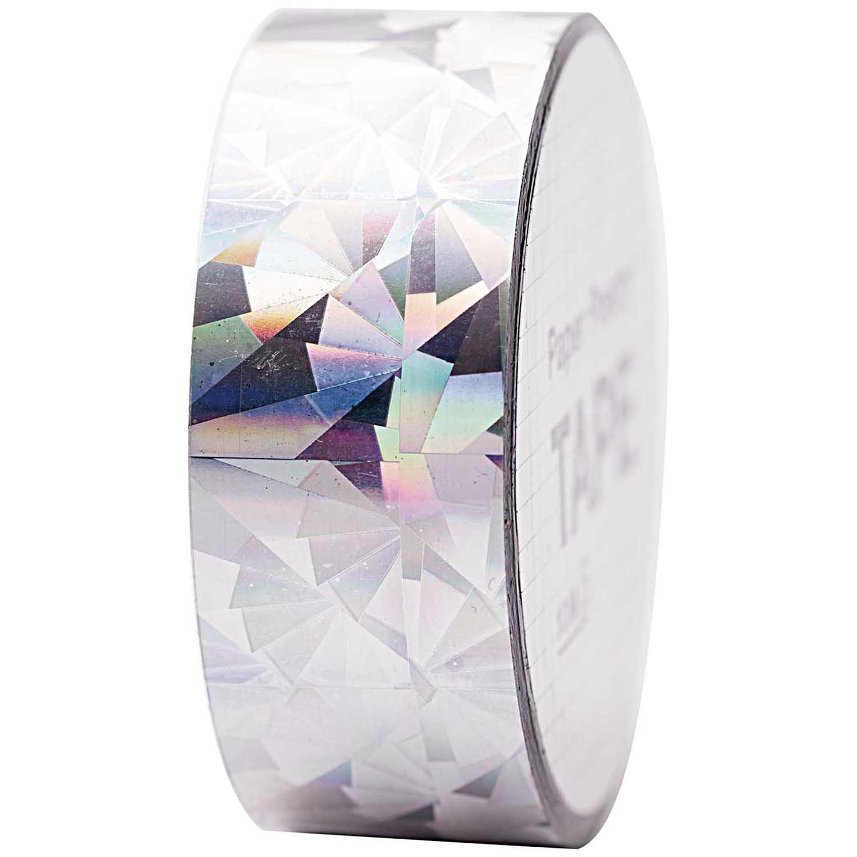 Cristal - Ruban adhésif holographique argent