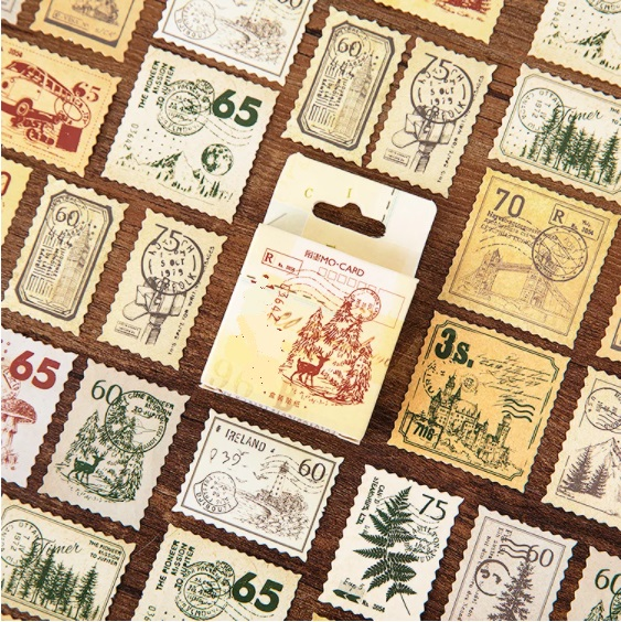 Stamp - 45 autocollants Airmail