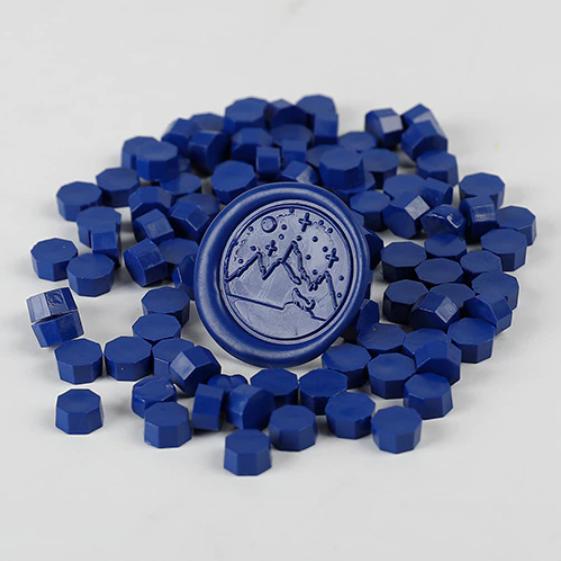 granulé cire bleu nuit