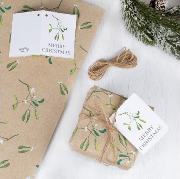 Kit paquet cadeau de Noël nature
